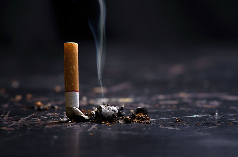 Smoking increases the risk of fractures as it can reduce bone mass